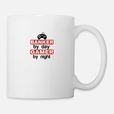Gamer Grandad BANKER BY DAY GAMER BY NIGHT - Mug