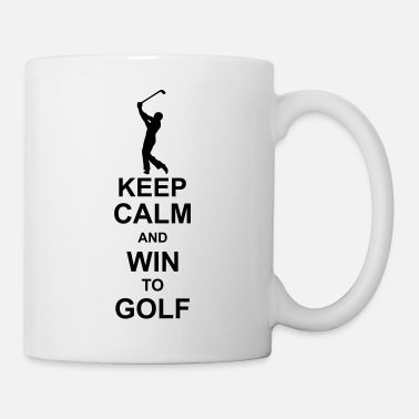 Location keep calm and win to golf kg10 - Mug