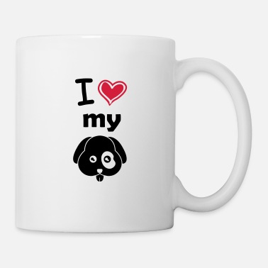 Cute Pets I love my dog - Mug