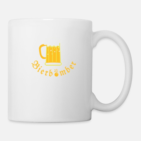 Oktoberfest Mugs & Drinkware - Beer Bomber (text, 1c) - Mug white
