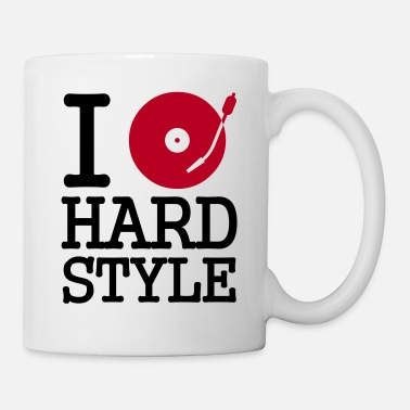 Turntable i dj / play / listen to hardstyle - Mug