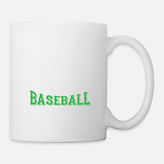 Vacances Mugs et récipients - Eat. sleep. baseball repeat - cool sport design - Mug blanc