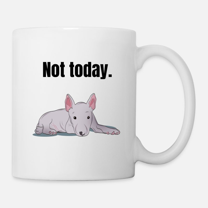 Terrier Mugs & Drinkware - Miniature Bull Terrier lazy tired gift - Mug white