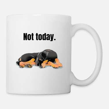 Doberman Doberman lazy tired not today gift - Mug
