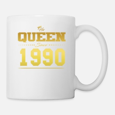 His Queen since Valentine's Day Partner couple 1990 - Mug