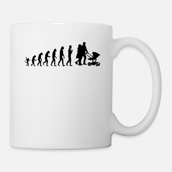 Parents Mugs et récipients - L'évolution aux parents - T-shirt unisexe - Mug blanc