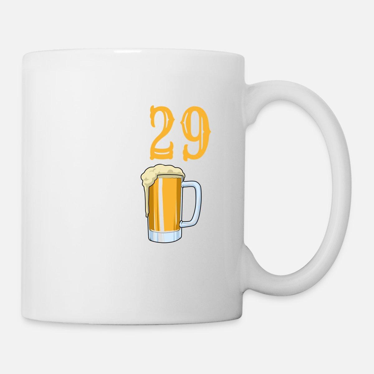 30 Geburtstag 29 Plus Bier Liebhaber Bierglas Tasse Spreadshirt