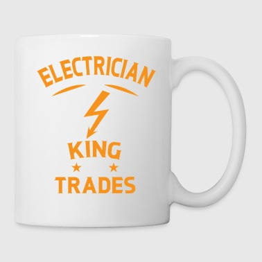 Electrician King of Trades - Elektriker Geschenk - Tasse
