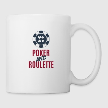 Poker Chip Poker and Roulette Casino Gift - Mug