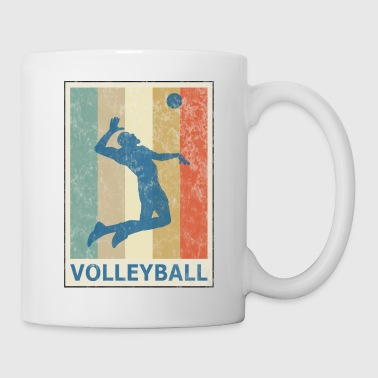 Retro Vintage Style Beach Volleyball Player - Mugg