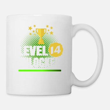 14th Birthday 14th Birthday Gambler Gamer Level 14 Unlocked - Mug