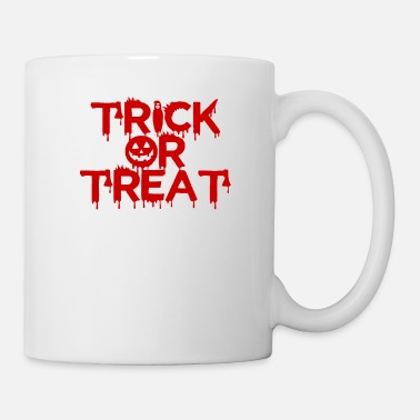 TRICK ELLER BEHANDLA halloween design - Mugg