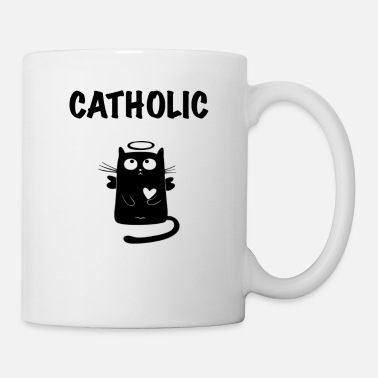 Catholic Catholic cat angel - Mug
