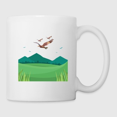 Buzzard bird of prey landscape - Mug
