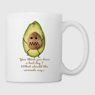 What should the avocado say? - funny drawing - Mug