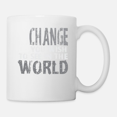 Runde Change World Forbedre Motivational Gift - Kop/krus