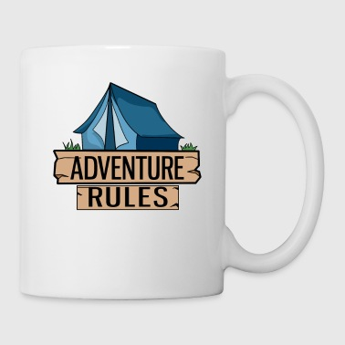 Tent Blue Adventure Camping Outdoor Gift Idea - Mug