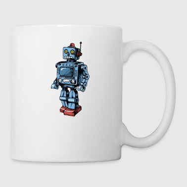 Androïd Robot Cyborg Android Scifi Retro Jouet - Mug blanc