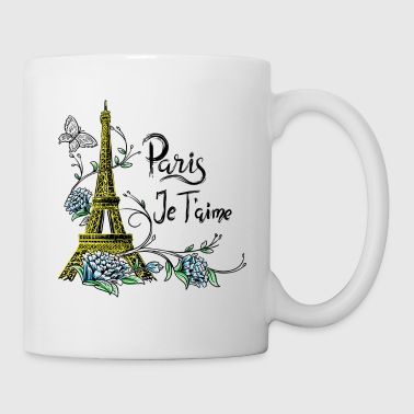Tee shirt Paris Tour Eiffel Je taime Paris France - Mug blanc