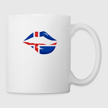 Iceland lip kiss mouth flag flag gift - Mug
