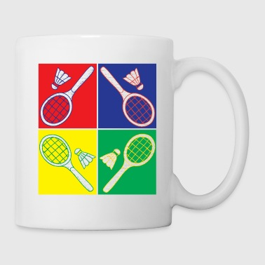 Pop art badminton - Mug