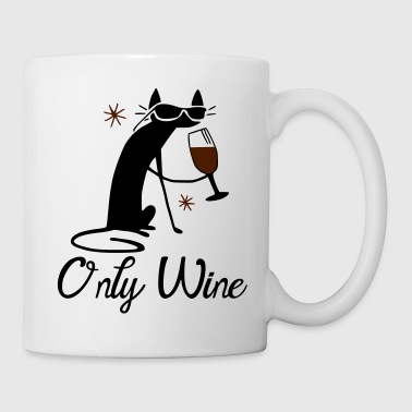 Cat only drinks wine - Mug