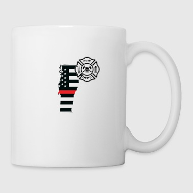 Vermont Firefighter Shield Thin Red Line Flag - Mug