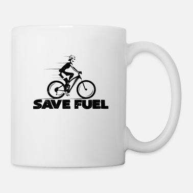 Save Gasoline Spare gasoline | Bicycle bicycles cyclists - Mug