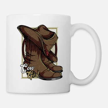 Cowboy Linedance Country Cow Girl Western Countrymusik - Tasse