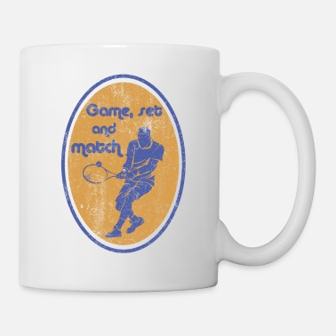 Game Set Match Tennis Tennisspieler Game Set Match - Tasse