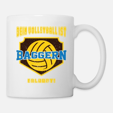 Draguer Drague de volley-ball drole - Mug blanc