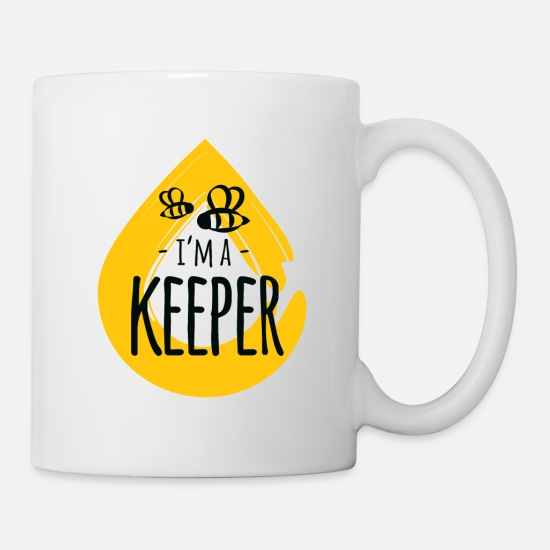 Antenna Mugs & Drinkware - I'm a Keeper honey animal insect beekeeper - Mug white