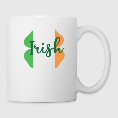 Shamrock Irish Shamrock i Flag of Ireland Colors - Kop/krus