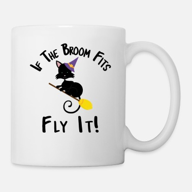 Witch If The Broom Fits Fly It Halloween Cat Designs - Mug