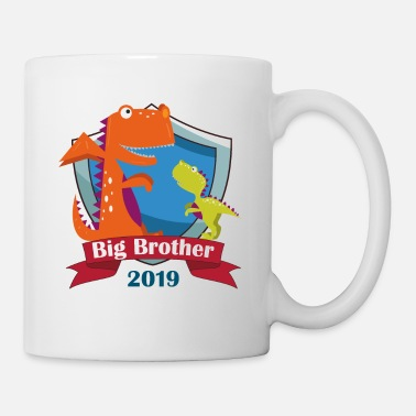 Big Big Brother 2019 Großer Bruder Dino Drache T-Shirt - Tasse