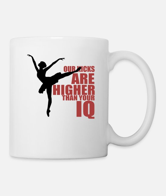Festival Mugs & Drinkware - Great IQ Kicks W Dance Shirt Gift Tee - Mug white