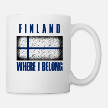 Patriot Suomi Where I Belong | Finland Helsinki geschenk - Mok