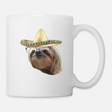 Esilarante Sloth Black Glasses Sombrero Sloths In Clothes - Tazza