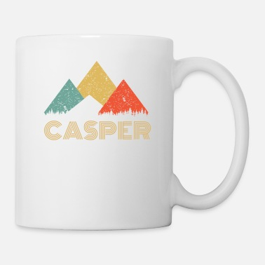 Ville Chemise Retro City of Casper Mountain - Mug blanc