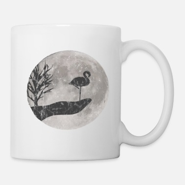 Modern Flamingo drawing used look - Mug