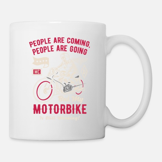 Biker Mugs & Drinkware - Motorcycle Superbike Biker Gift · People? - Mug white