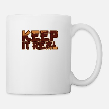 Change Keep It Real / Vintage Be Yourself / Citation inspirante - Mug blanc