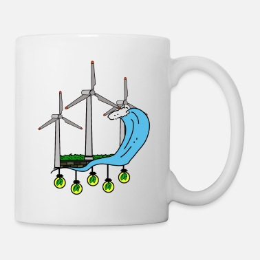 Wind Turbine Green energy for nature friends & our children - Mug
