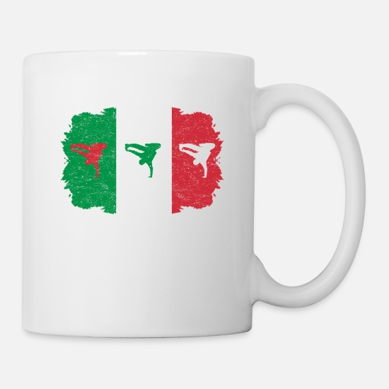 Breakdance Bboy Breakin Italy Italia Flag Home Mug White