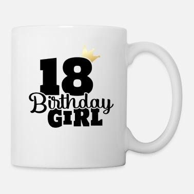 18 Verjaardag 2001 Jaar Meisje Vrouw Cadeau Idee Onderzetters 4 Stuks Wit
