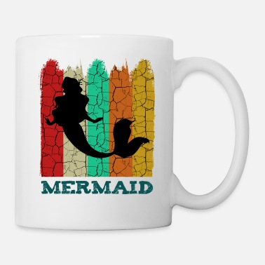 Væsen Retro Vintage Mermaid Mermaiding Gaveidee - Krus