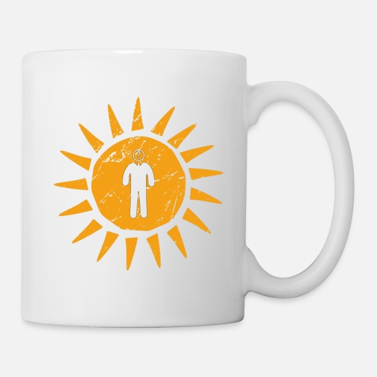 Marksman Mugs & Drinkware - Question mark philosophy researcher sun gift - Mug white