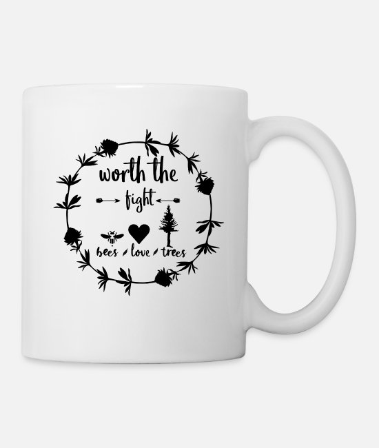 Nature Mugs & Drinkware - What I Fight For Environmental Protection Tshirt Gift Idea - Mug white