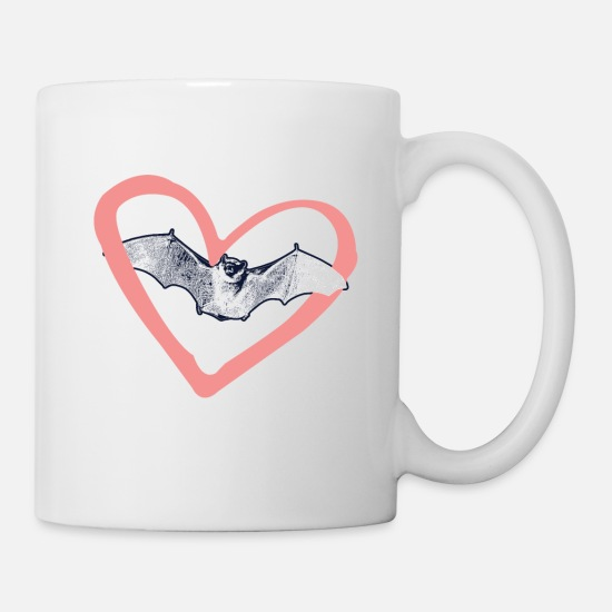 Love Mugs & Drinkware - bat - Mug white