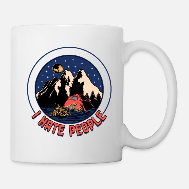 Star Trek Camping tents under the stars - trekking - Mug